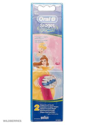 Сменные насадки ORAL-B Stages Kids 2шт для электрических зубных щеток ORAL_B. Цвет: розовый