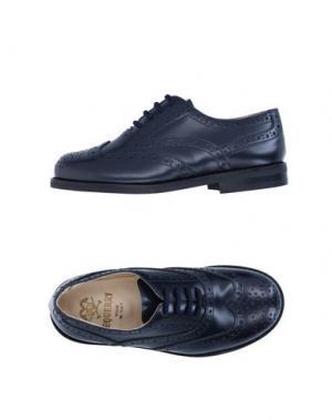 Обувь на шнурках EQUERRY. Цвет: темно-синий