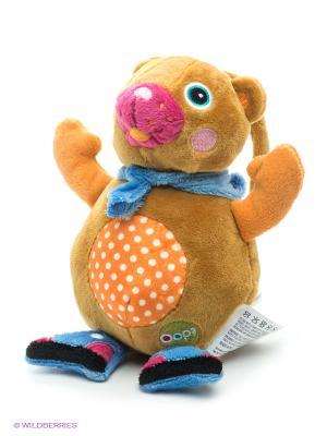 Игрушка-подвеска музыкальная Медвежонок Oops. Цвет: коричневый, голубой, фуксия, оранжевый