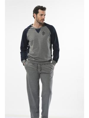 Спортивный костюм Cacharel. Цвет: серый