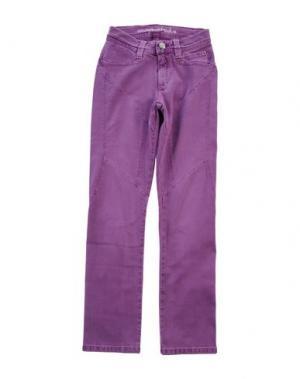 Джинсовые брюки 9.2 BY CARLO CHIONNA. Цвет: фиолетовый