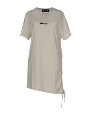 Короткое платье NUMERO 00. Цвет: светло-серый