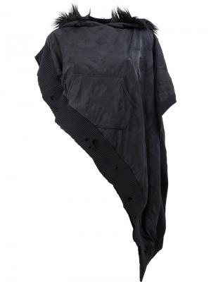 Худи с фактурным камуфляжным принтом Greg Lauren. Цвет: чёрный