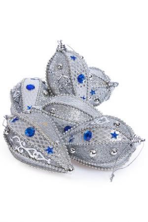 Набор украшений, 6 штук Davana. Цвет: серебряный