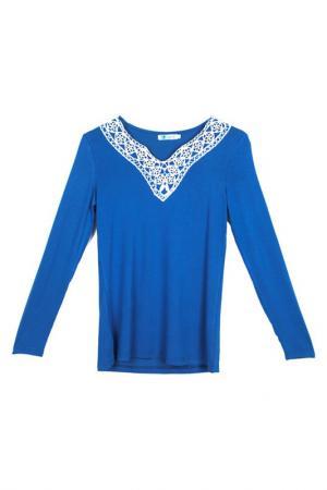 Блузка LESARA. Цвет: синий