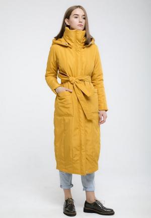 Куртка утепленная Kira Mesyats. Цвет: желтый