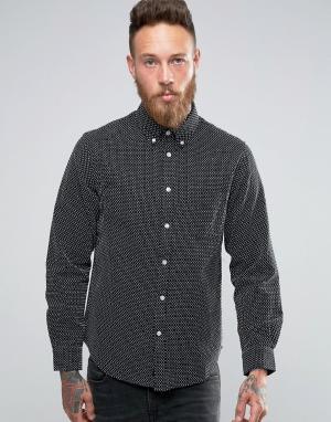 Edwin Рубашка из ткани добби. Цвет: черный