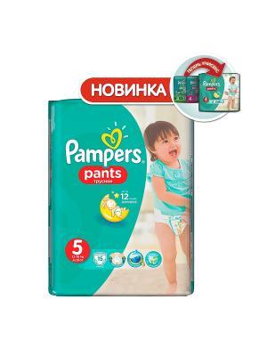 Трусики Pants 12-18кг, размер 5, 15 шт. Pampers. Цвет: зеленый