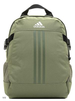 Рюкзак BP POWER III S  TENGRN/TENGRN/WHITE Adidas. Цвет: серо-зеленый, белый