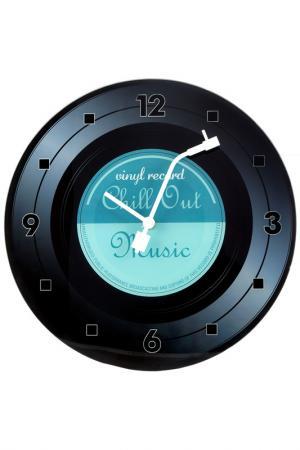 Часы Время музыки настенные Русские подарки. Цвет: синий, черный, белый