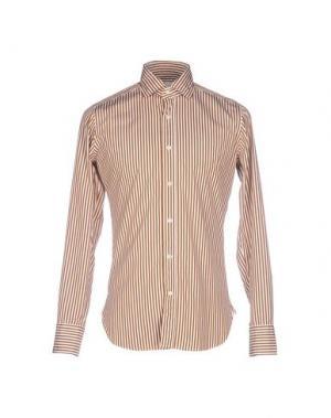 Pубашка GUGLIELMINOTTI. Цвет: коричневый