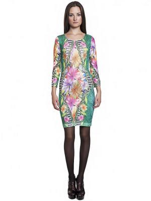 Платье FRENCH HINT. Цвет: зеленый