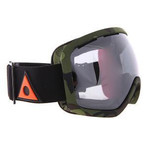 Маска для сноуборда  Bullet Camo Ashbury. Цвет: черный,зеленый,коричневый