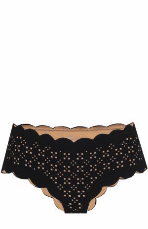 Плавки-бикини с фестонами Marysia. Цвет: черный