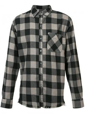 Рубашка в клетку NSF. Цвет: серый
