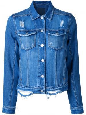 Двухцветная куртка Original Nobody Denim. Цвет: синий