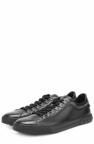 Кожаные кеды на шнуровке Tod's. Цвет: черный