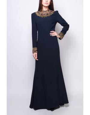 Платье Reem Acra. Цвет: синий