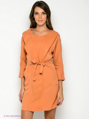 Платье Formalab. Цвет: оранжевый