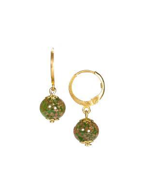 Серьги Amato цвет 344 (tree green) Bottega Murano. Цвет: зеленый, золотистый