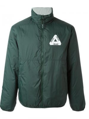 Двухсторонняя куртка Palace. Цвет: зелёный