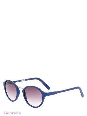 Солнцезащитные очки TOUCH. Цвет: темно-синий