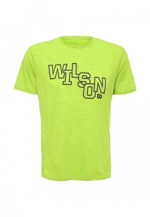 Футболка Wilson. Цвет: зеленый