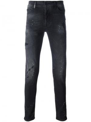 Рваные обтягивающие джинсы Marcelo Burlon County Of Milan. Цвет: чёрный