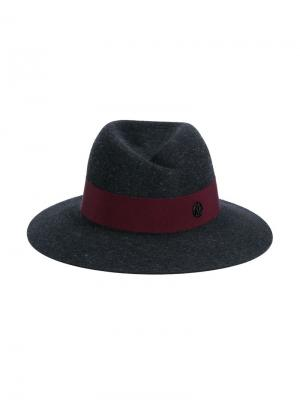 Фетровая шляпа-федора Maison Michel. Цвет: серый