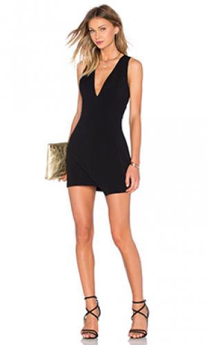 Платье whats your angle NBD. Цвет: черный