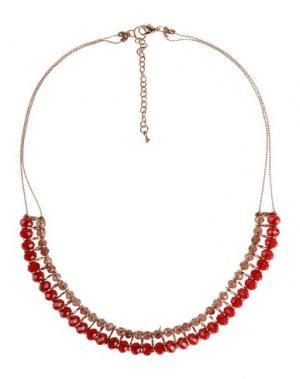 Ожерелье DETTAGLI. Цвет: красно-коричневый