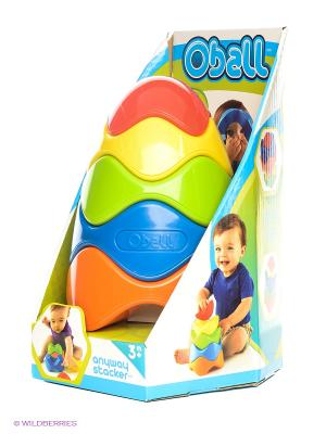 Развивающая игрушка Пирамидка Oball. Цвет: оранжевый