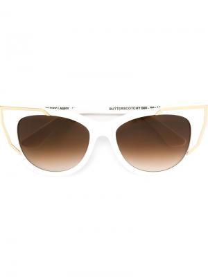 Солнцезащитные очки Butterscotchy Thierry Lasry. Цвет: белый