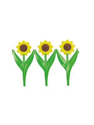 Ограждение Подсолнухи (450х300)(6шт) Альтернатива. Цвет: желтый, зеленый, коричневый