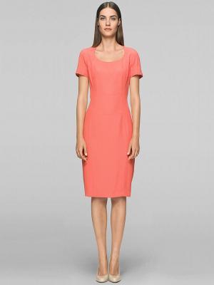 Платье Elegance. Цвет: коралловый