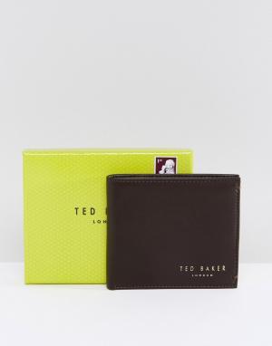 Ted Baker Кожаный бумажник Antony. Цвет: коричневый