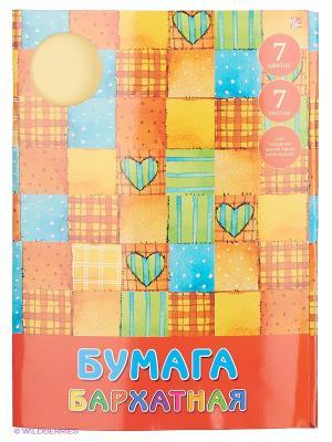Наборы цветной бумаги Заплатки с сердечками. Канц-Эксмо. Цвет: оранжевый
