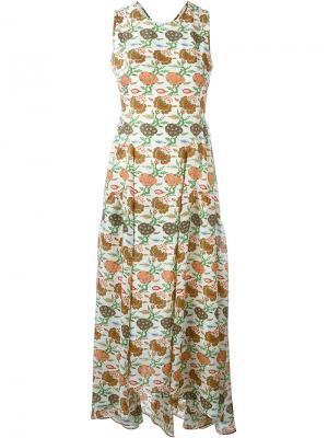 Платье с открытой спиной Tory Burch. Цвет: телесный