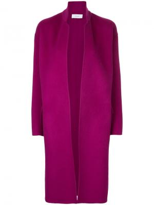 Строгое длинное пальто Astraet. Цвет: розовый и фиолетовый