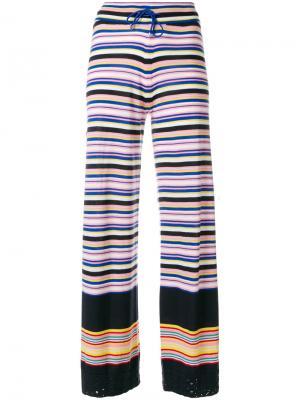 Расклешенные брюки в полоску Barrie C8862912631021