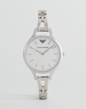 Emporio Armani Серебристые наручные часы AR11054. Цвет: серебряный