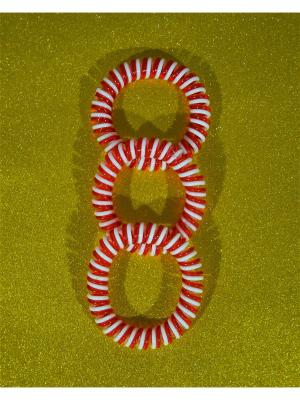 Резинка пружинка 3 шт. Bizon. Цвет: красный