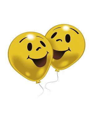 10 шариков с рисунком Улыбка Everts. Цвет: желтый