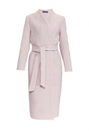 Пальто из шерсти с поясом 161017 Anna Dubovitskaya. Цвет: бежевый