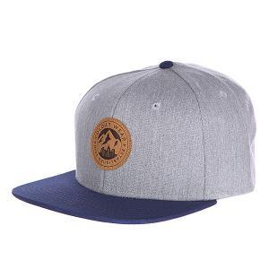 Бейсболка  Badge Cap Grey Melange CLWR. Цвет: серый,синий