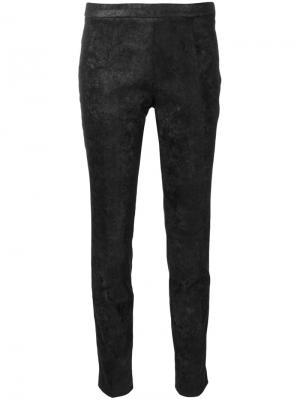 Облегающие брюки из материала с блеском Nude. Цвет: чёрный