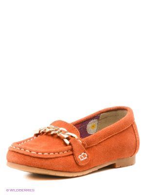 Мокасины Зебра. Цвет: оранжевый