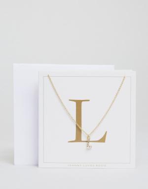 Johnny Loves Rosie Ожерелье c буквой L. Цвет: золотой