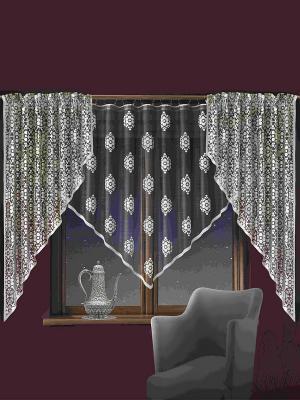 Комплект штор Wisan. Цвет: антрацитовый, белый