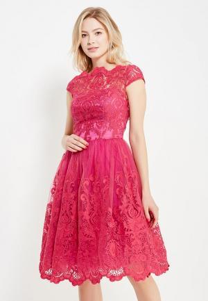 Платье Chi London. Цвет: фуксия